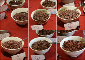 小豆食べ比べ